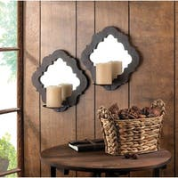 Marco Wood-Framed Candle Wall Sconces (Set of 2)