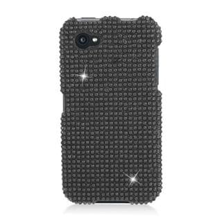 Insten Black Hard Snap-on Rhinestone Bling Case Cover For HTC First