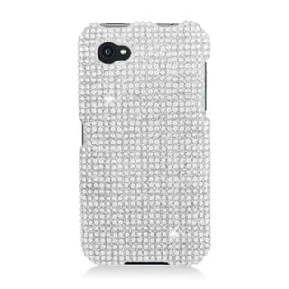 Insten Silver Hard Snap-on Diamond Bling Case Cover For HTC First