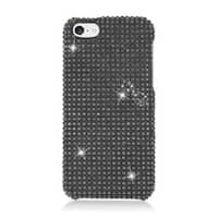 Insten Black Hard Snap-on Diamond Bling Case Cover For Apple iPhone 5C