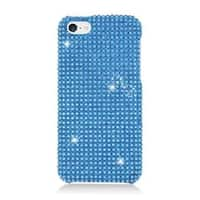 Insten Blue Hard Snap-on Rhinestone Bling Case Cover For Apple iPhone 5C