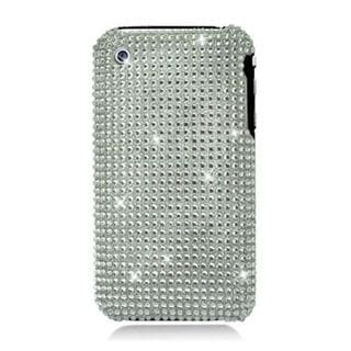 Insten Silver Hard Snap-on Rhinestone Bling Case Cover For Apple iPhone 3G/ 3GS