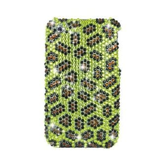 Insten Yellow/ Black Leopard Hard Snap-on Diamond Bling Case Cover For Apple iPhone 3G/ 3GS