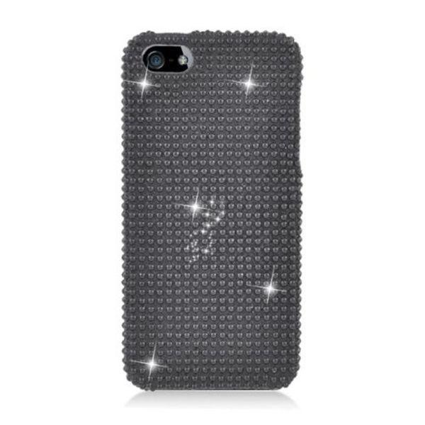 Insten Black Hard Snap-on Diamond Bling Case Cover For Apple iPhone 5/ 5S