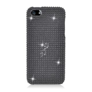 Insten Black Hard Snap-on Diamond Bling Case Cover For Apple iPhone 5/ 5S