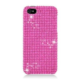 Insten Hot Pink Hard Snap-on Diamond Bling Case Cover For Apple iPhone 5/ 5S