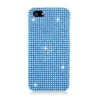 Insten Blue Hard Snap-on Rhinestone Bling Case Cover For Apple iPhone 5/ 5S