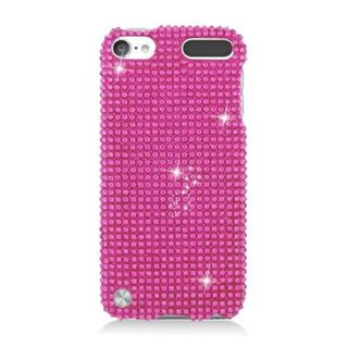 Insten Hot Pink Hard Snap-on Diamond Bling Case Cover For Apple iPod Touch 5th Gen