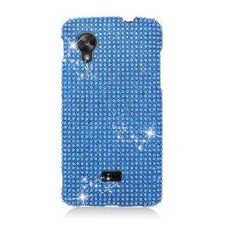 Insten Blue Hard Snap-on Rhinestone Bling Case Cover For LG Google Nexus 5 D820