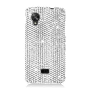 Insten Silver Hard Snap-on Rhinestone Bling Case Cover For LG Google Nexus 5 D820