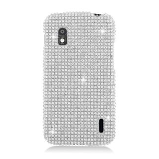 Insten Silver Hard Snap-on Diamond Bling Case Cover For LG Google Nexus 4 E960