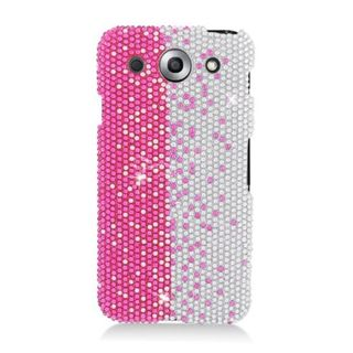 Insten Hot Pink/ Silver Hard Snap-on Rhinestone Bling Case Cover For LG Optimus G Pro E980