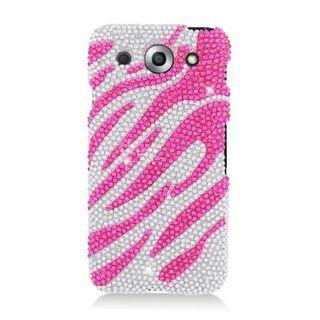 Insten Hot Pink/ Silver Zebra Hard Snap-on Diamond Bling Case Cover For LG Optimus G Pro E980