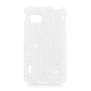 Insten Silver Hard Snap-on Diamond Bling Case Cover For LG Optimus F3 LS720