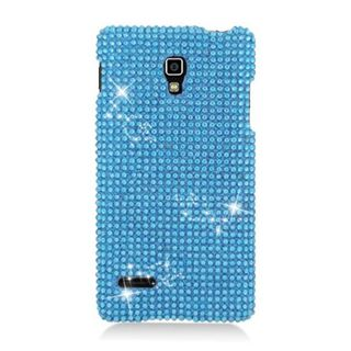 Insten Blue Hard Snap-on Diamond Bling Case Cover For LG Optimus L9 P769