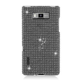 Insten Black Hard Snap-on Rhinestone Bling Case Cover For LG Splendor US730 / Venice LG730