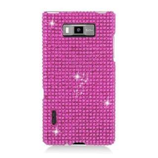 Insten Hot Pink Hard Snap-on Diamond Bling Case Cover For LG Splendor US730 / Venice LG730