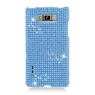Insten Blue Hard Snap-on Rhinestone Bling Case Cover For LG Splendor US730 / Venice LG730