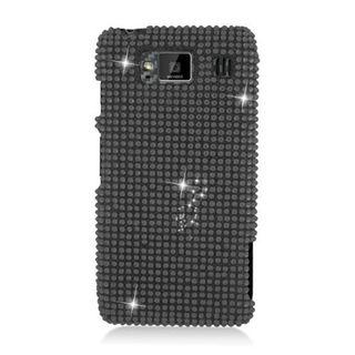 Insten Black Hard Snap-on Diamond Bling Case Cover For Motorola Droid Razr Maxx HD