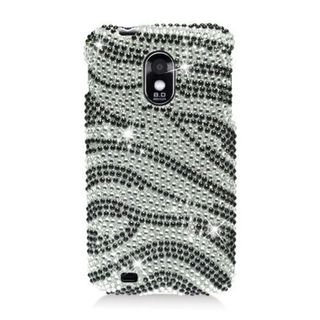 Insten Black/ Silver Zebra Hard Snap-on Diamond Bling Case Cover For Samsung Galaxy S2 Epic 4G Touch D710 Sprint