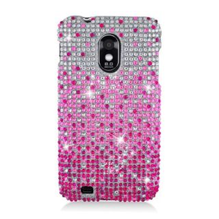 Insten Hot Pink/ Silver Waterfall Hard Snap-on Diamond Bling Case Cover For Samsung Galaxy S2 Epic 4G Touch D710 Sprint