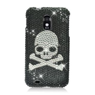 Insten Black/ Silver Skull Hard Snap-on Diamond Bling Case Cover For Samsung Galaxy S2 Epic 4G Touch D710 Sprint