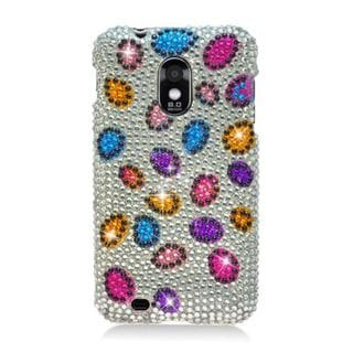 Insten Silver/ Colorful Leopard Hard Snap-on Diamond Bling Case Cover For Samsung Galaxy S2 Epic 4G Touch D710 Sprint