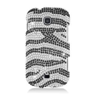 Insten Black/ Silver Zebra Hard Snap-on Diamond Bling Case Cover For Samsung Galaxy Stellar 4G I200