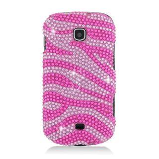 Insten Hot Pink/ Pink Zebra Hard Snap-on Diamond Bling Case Cover For Samsung Galaxy Stellar 4G I200