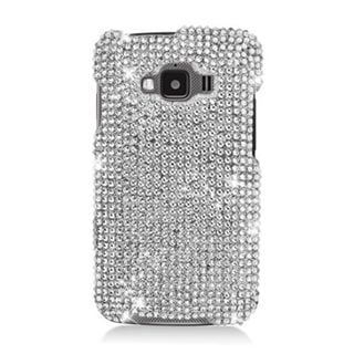 Insten Silver Hard Snap-on Rhinestone Bling Case Cover For Samsung Rugby Smart SGH-i847