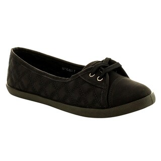 Refresh IF29 Women's Lace Up Stitched Flats