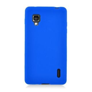 Insten Blue Soft Silicone Skin Rubber Case Cover For LG Optimus G E970