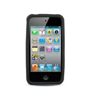 Insten Black Soft Silicone Skin Rubber Case Cover For Apple iPhone 4/ 4S