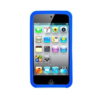 Insten Blue Soft Silicone Skin Rubber Case Cover For Apple iPod Touch 4th Gen