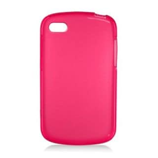 Insten Red Frosted TPU Rubber Candy Skin Case Cover For BlackBerry Q10