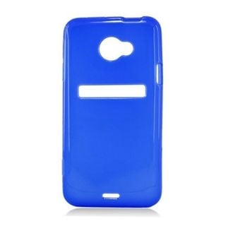 Insten Blue Frosted TPU Rubber Candy Skin Case Cover For HTC EVO 4G LTE