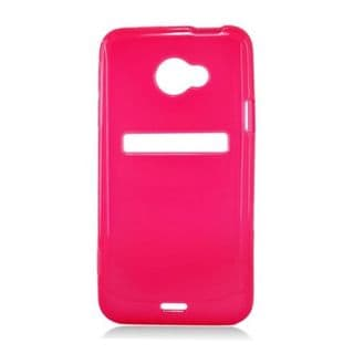 Insten Red Frosted TPU Rubber Candy Skin Case Cover For HTC EVO 4G LTE