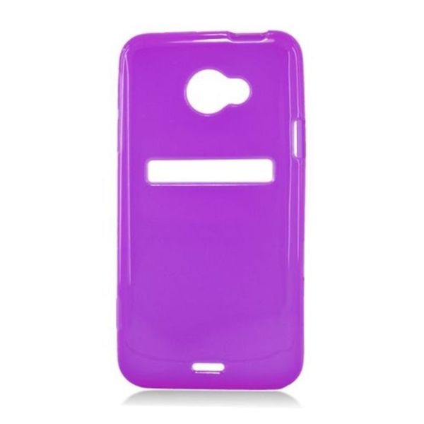 Insten Purple Frosted TPU Rubber Candy Skin Case Cover For HTC EVO 4G LTE