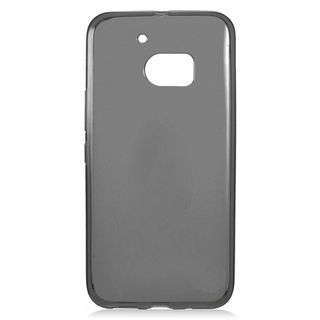 Insten Black Frosted TPU Rubber Candy Skin Case Cover For HTC One M10