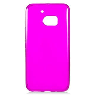 Insten Hot Pink Frosted TPU Rubber Candy Skin Case Cover For HTC One M10