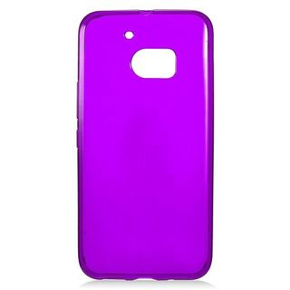 Insten Purple Frosted TPU Rubber Candy Skin Case Cover For HTC One M10