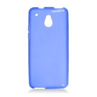 Insten Blue Frosted TPU Rubber Candy Skin Case Cover For HTC One Mini