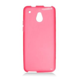 Insten Red Frosted TPU Rubber Candy Skin Case Cover For HTC One Mini