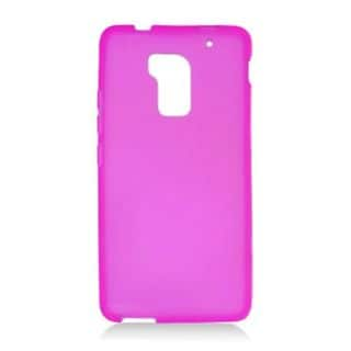 Insten Purple Frosted TPU Rubber Candy Skin Case Cover For HTC One Max