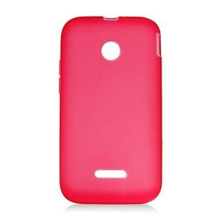 Insten Red Frosted TPU Rubber Candy Skin Case Cover For Huawei Prism II U8686