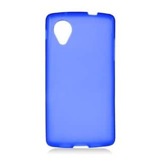 Insten Blue Frosted TPU Rubber Candy Skin Case Cover For LG Google Nexus 5 D820