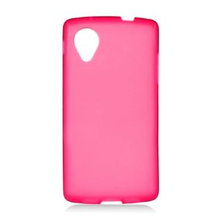 Insten Red Frosted TPU Rubber Candy Skin Case Cover For LG Google Nexus 5 D820