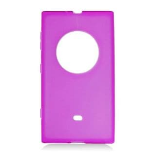 Insten Purple Frosted TPU Rubber Candy Skin Case Cover For Nokia Lumia 1020