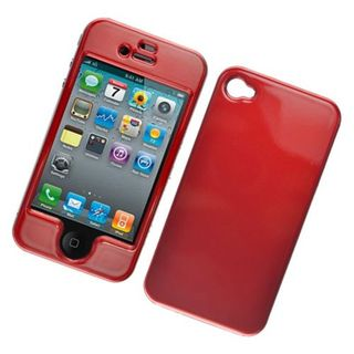 Insten Red Hard Snap-on Glossy Case Cover For Apple iPhone 4/ 4S