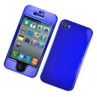 Insten Blue Hard Snap-on Glossy Case Cover For Apple iPhone 4/ 4S
